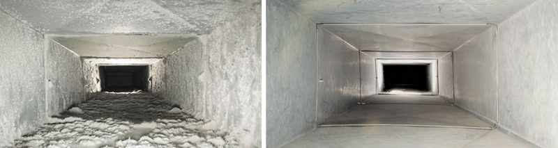 Clean duct cleaning - Before & after